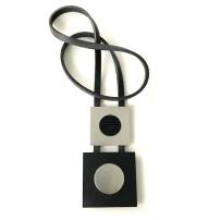 Halsband i gummi och aluminium, BRN029